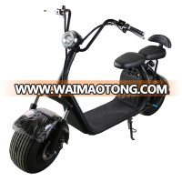 Unfoldable 1000w 1500w 2000w motor Fat tire electric scooter citycoco with removable battery